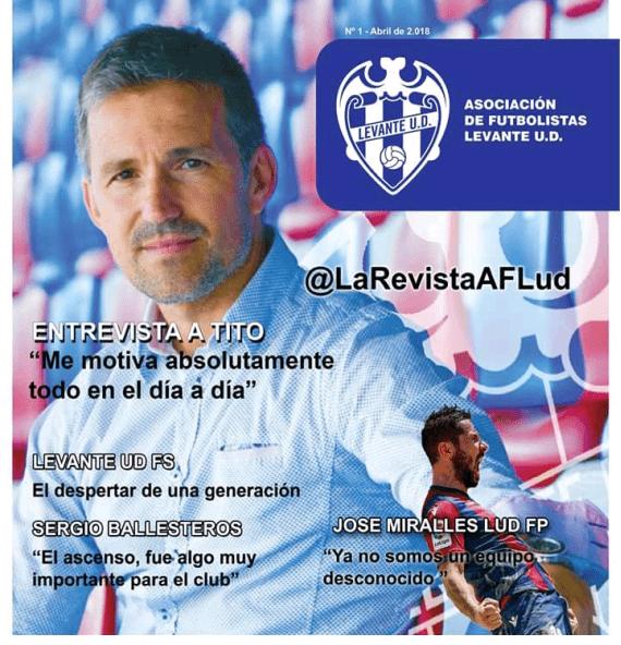 Presentación de la revista de veteranos del Levante UD